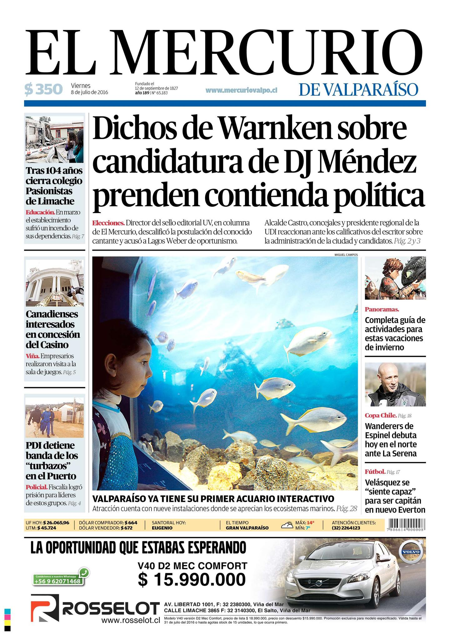 portada Mercurio Valparaiso 1